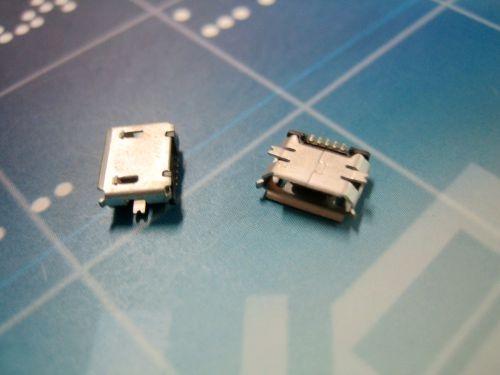 Micro 5P母SMT带柱