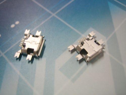 Micro 5P母座沉板SMT式