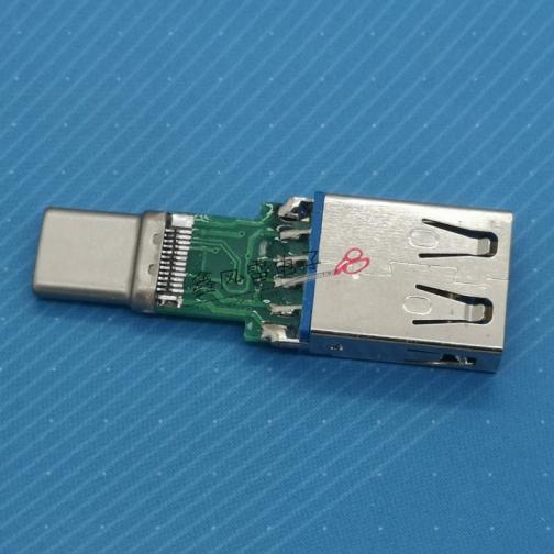 XFLS001-UCTU3F2-X(TYPE C公头拉伸转AF3.0 5.1K电阻 L=40.5)老款