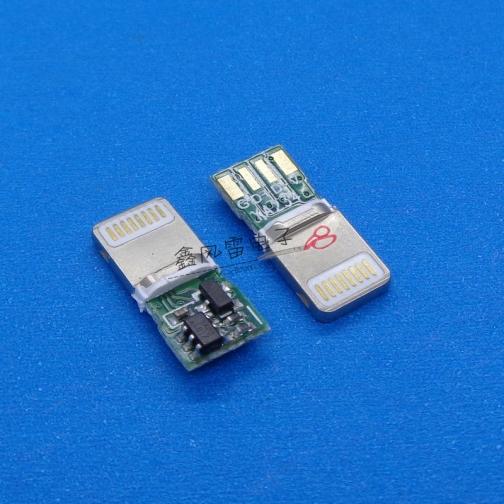 苹果8P压铸一体式方头L=15.35焊盘后移加宽 耐高压