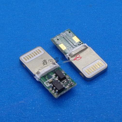 苹果8P压铸一体式方头L=15.35耐高压 充电板)