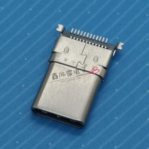 17006-UCAM002-X(TYPE C公头拉伸沉板双排SMT外壳SMT)