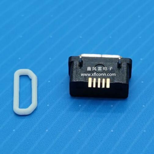 00208-UMKF001-A(MICRO 5P母座脚距5.6防水 外露1.0短)