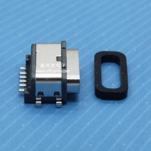 00101-UCAF008-X(TYPE C 6P母座四脚沉板0.55防水型)