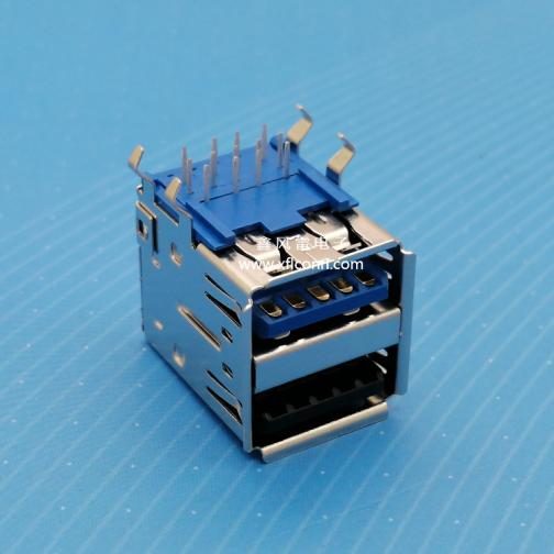 00710-U32F001-X(USB3.0+2.0 DIP 13P弯脚母座)