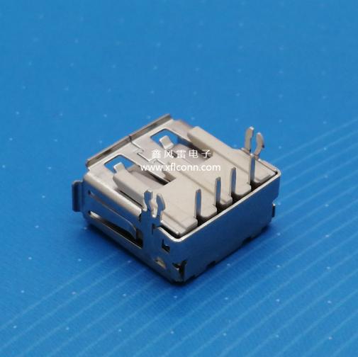 26009-U2AF004-X(USBAF90度无后盖鱼叉脚有边E型胶)