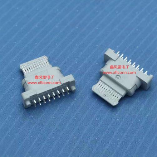 01017-UCAF001-X(TYPE C 16P 180度纯塑)