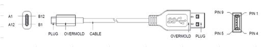 type c数据线连接示意图